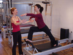 Emory Story Teaching Pilates Reformer